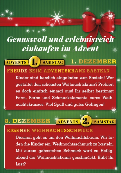 Adventsangebote 2018